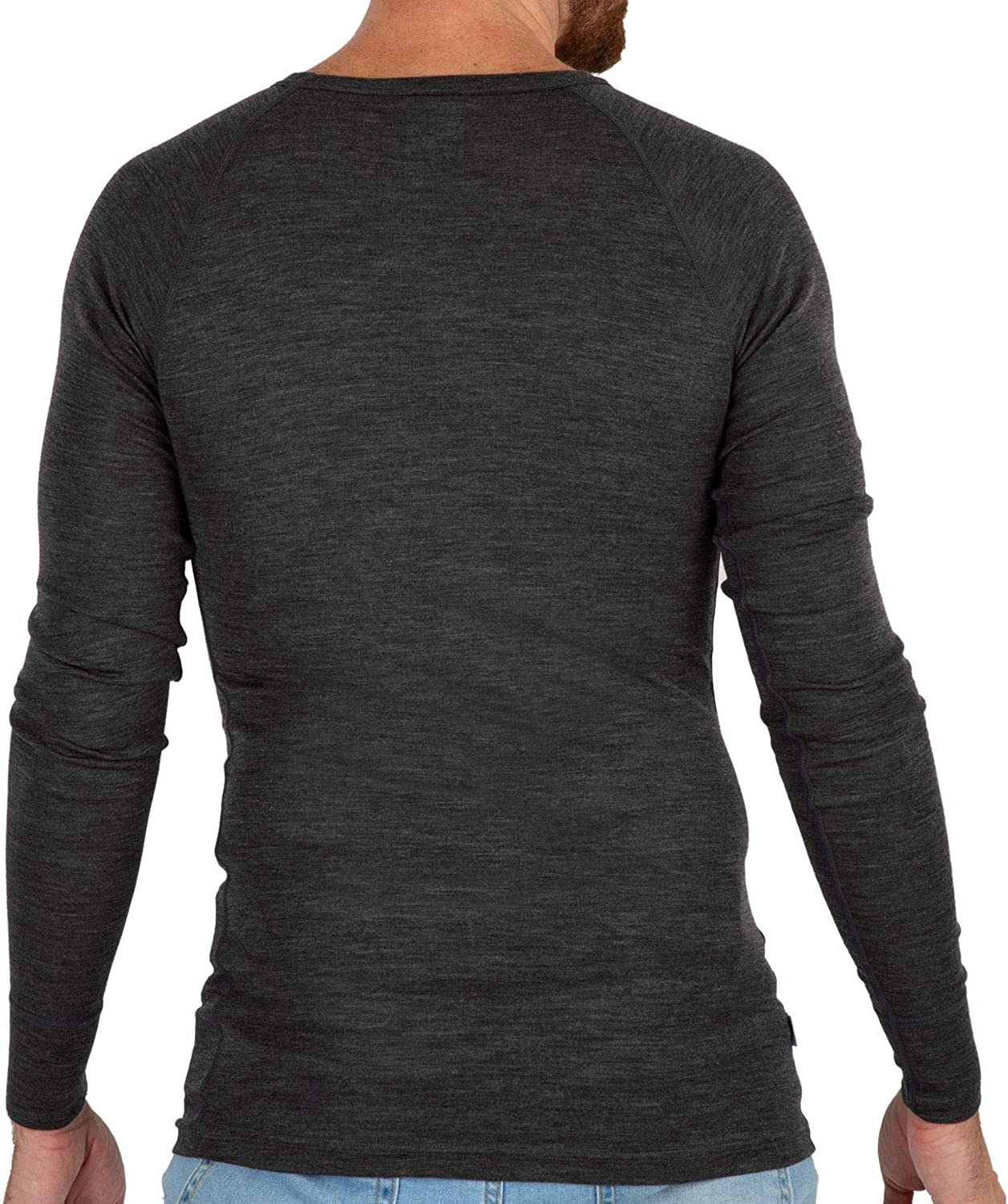 Meriwool Mens Base Layer 100 Merino Wool Lightweight Form Fit Top Thermal Shirt At Amazon Men S Clothing Store