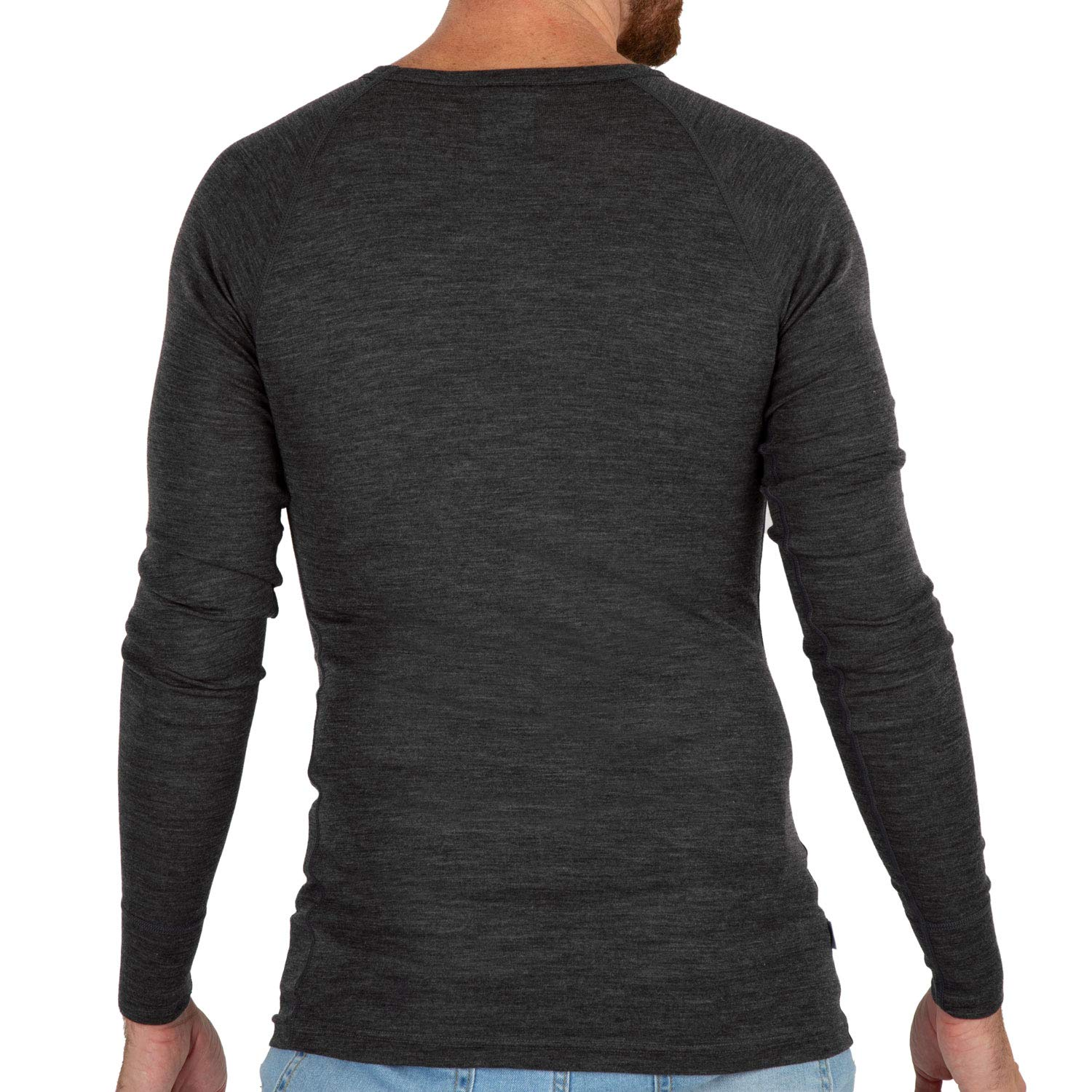 fa633777 MERIWOOL Mens Merino Wool Lightweight Form Fit Baselayer Pullover Top at  Amazon Men's Clothing store: