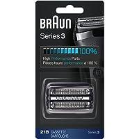 Braun Serie 3 21B, Cabezal de Recambio para Afeitadoras Eléctricas Series 3, Negro
