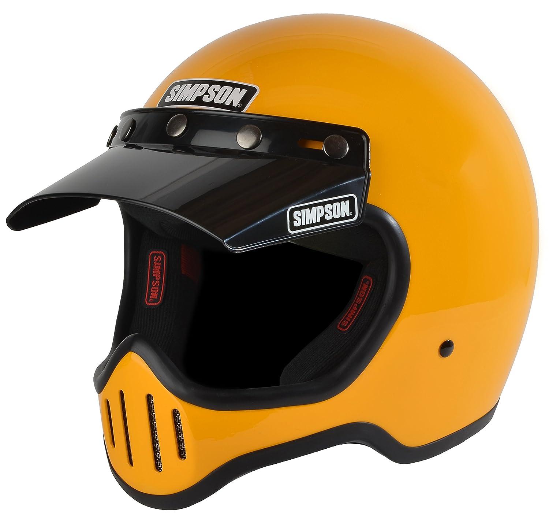 Simpson M50DL6 Model 50 Dot Helmet Lrg Yellow