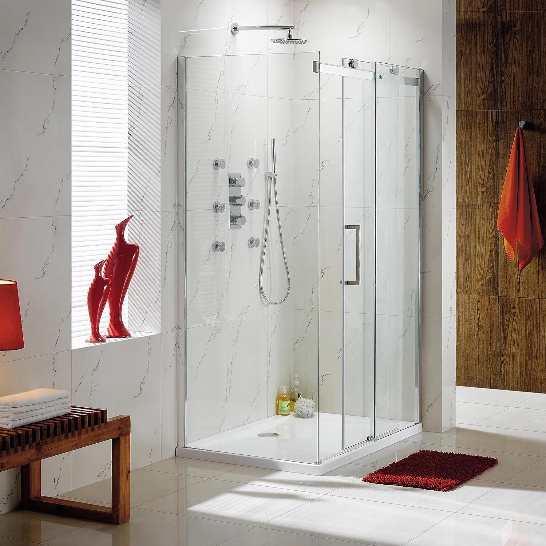 1400 x 900 mm deslizante fácil de limpiar de ducha con puerta de ...