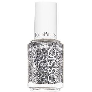 essie Nail Polish, Glossy Shine Silver Glitter, Set in Stones, 0.46 Ounce