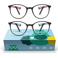 2 Gafas Anti Luz Azul Niños - Baytion Gafas Filtro Azul para Computadora para PC y TV con Marco TR90 Protección 100% UV…