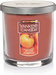 Yankee Candle Small Tumbler Jar Spiced Pumpkin Scented Premium Paraffin Grade Candle Wax with up to 55 Hour Burn Time