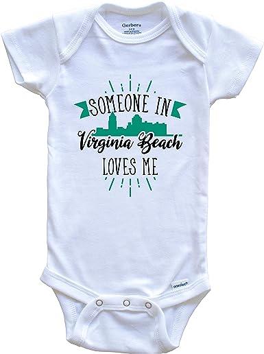Virginia Baby Onesie\u00ae Loved Baby Onesie\u00ae Someone In Virginia Loves Me Onesie\u00ae Long Distance Onesie\u00ae State Baby Onesie\u00ae
