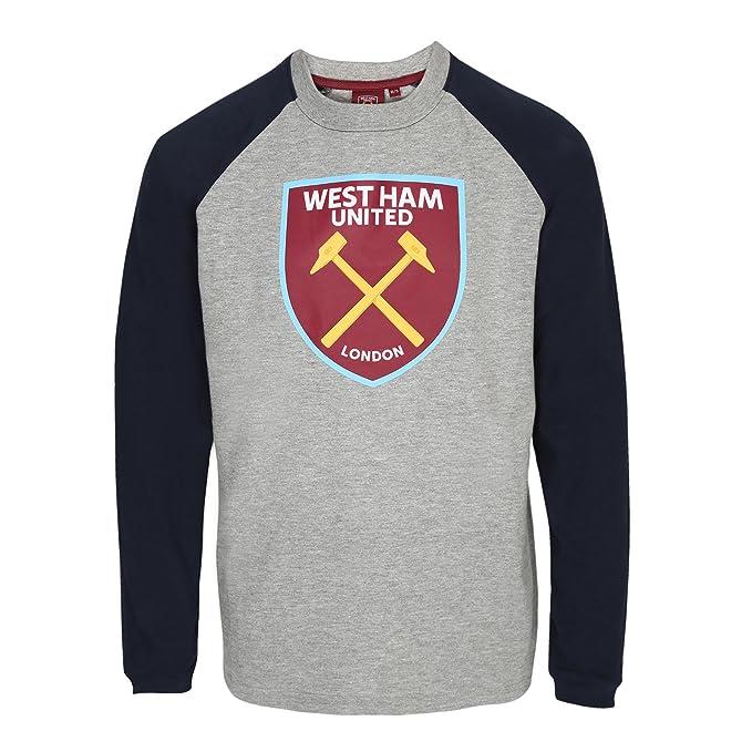 West Ham United FC - Camiseta Oficial con Mangas raglán - para niños - con el Escudo del Club: Amazon.es: Ropa y accesorios
