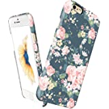"iPhone 6 Plus / 6s Plus slim case floral, Akna Vintage Obsession Series High Impact Slim Hard Case with Soft Fabric Interior for both iPhone 6 Plus & iPhone 6s Plus (5.5"" iPhone)[Vintage Roes](C.A)"