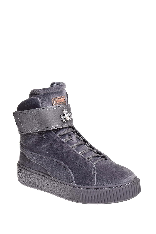 PUMA Women's Platform Mid Velour WNS Sneaker B077VMG5YW 10 M US|Quiet Shade