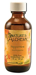 Pure Essential Oil Peppermint Nature's Alchemy 2 oz Oil