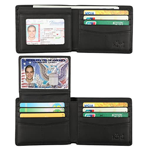 fd7ca47dfe1b Wallet for Men-Genuine Leather RFID Blocking Bifold Stylish Wallet With 2  ID Window (
