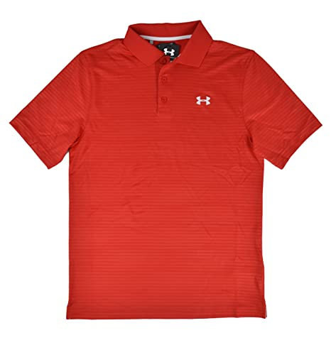 Under Armour UA Hombres de Rojo Rayas Calor Gear Loose fit Golf ...