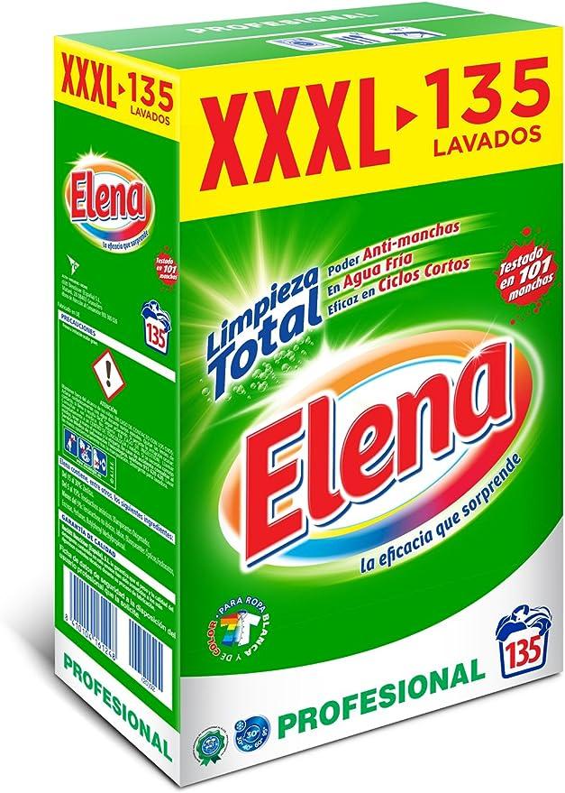 Elena detergente lavadora para ropa formato profesional 135 dosis ...
