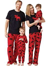 Little Blue House by Hatley Womens Standard Moose Family Pajamas