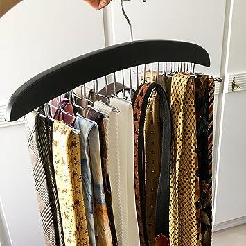 HOMFA 2 Set Percha para Cinturones y Pañuelos Perchero para corbatas Percha de Madera 42x17x1.6cm … (2 productos)