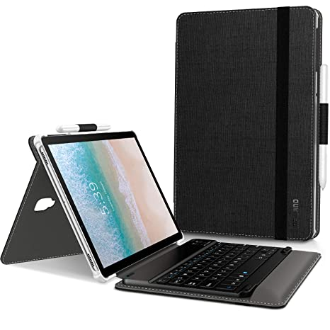 premium selection fb0da db4c0 Infiland Galaxy Tab S4 10.5 Keyboard Case Compatible with Samsung Galaxy  Tab S4 10.5-inch 2018 Release Tablet Model SM-T830/T835/T837, Black