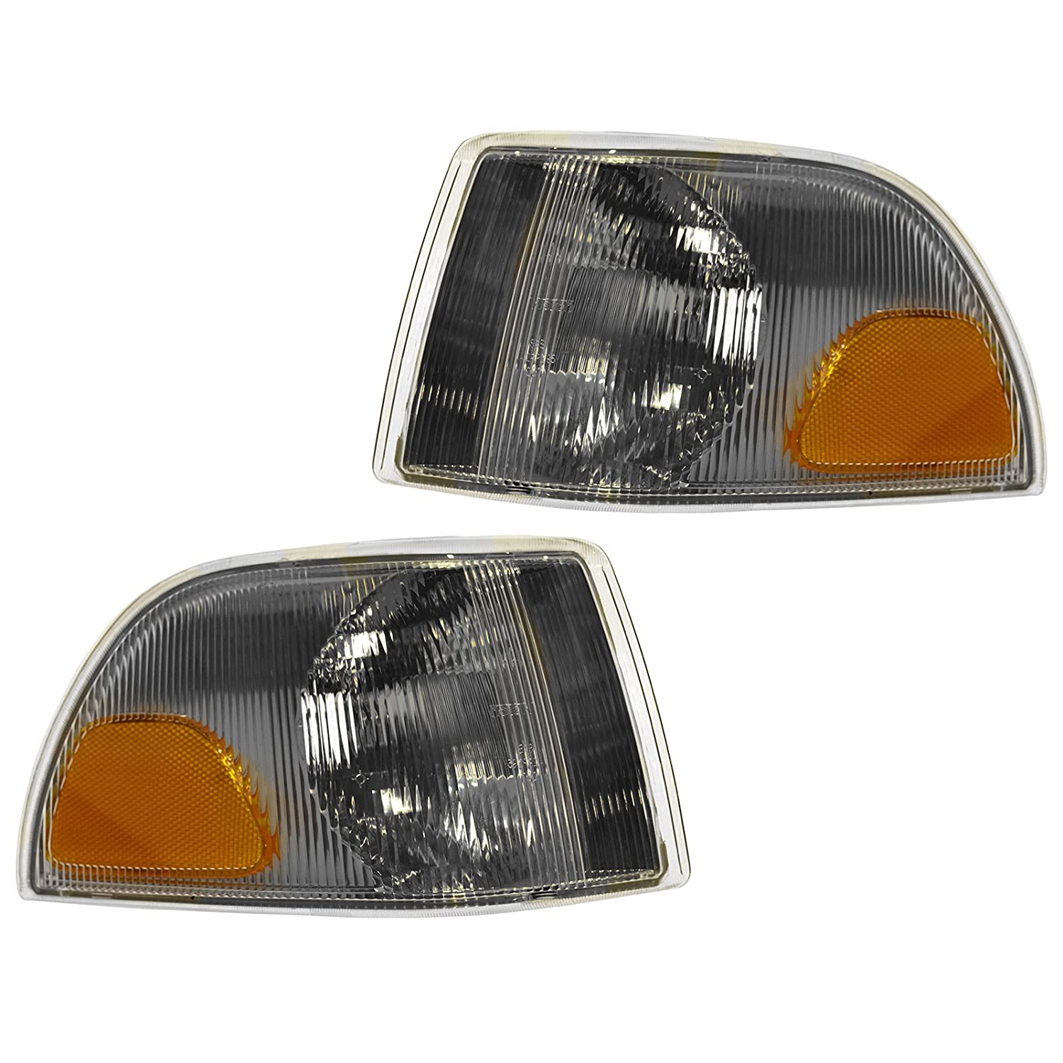 Side Marker Corner Parking Turn Signal Light Lamp Pair Set for Volvo C70 S70 V70 1A Auto