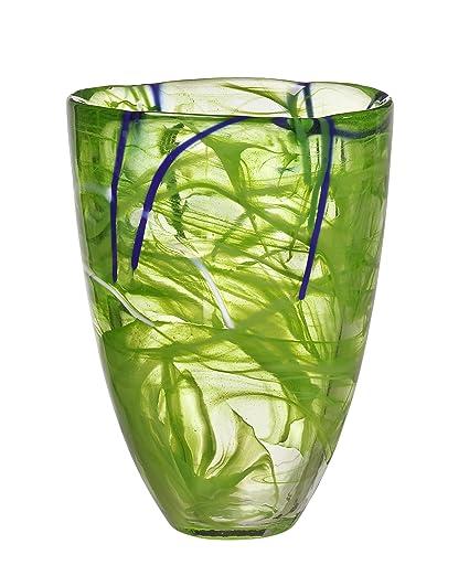 Amazon Kosta Boda Contrast Vase Lime Home Kitchen