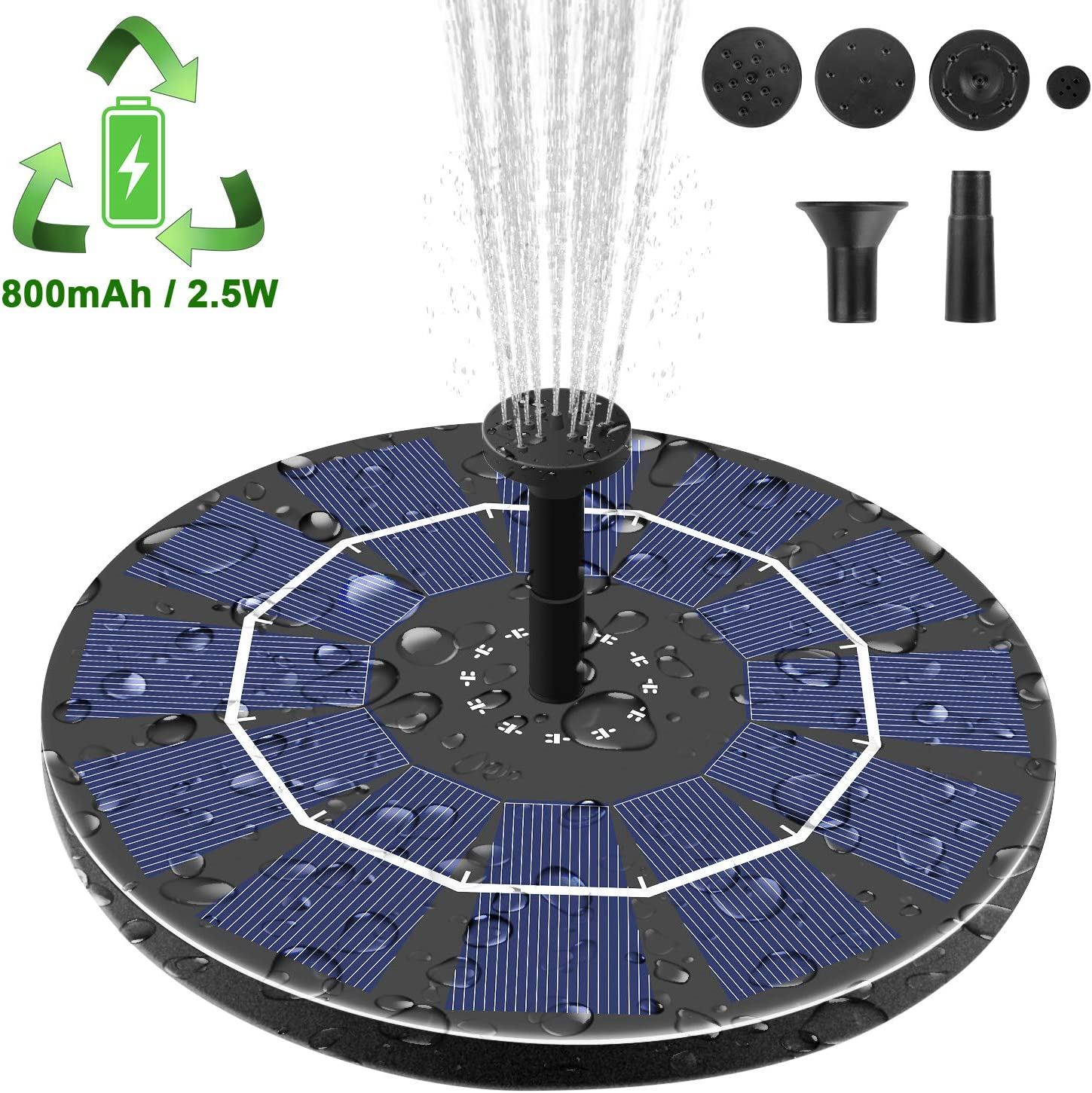 Viajero Latest Upgrade Solar Fountain Pump Circulation Pumps