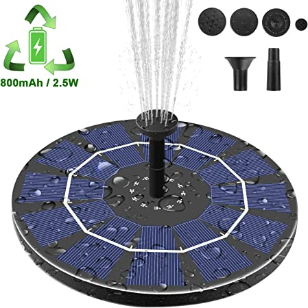 front facing viajero 2.5W solar fountain pump