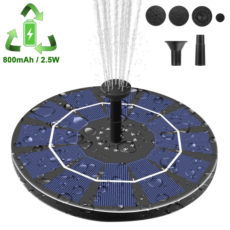 Viajero Latest Upgrade 2.5W Solar Fountain Pump