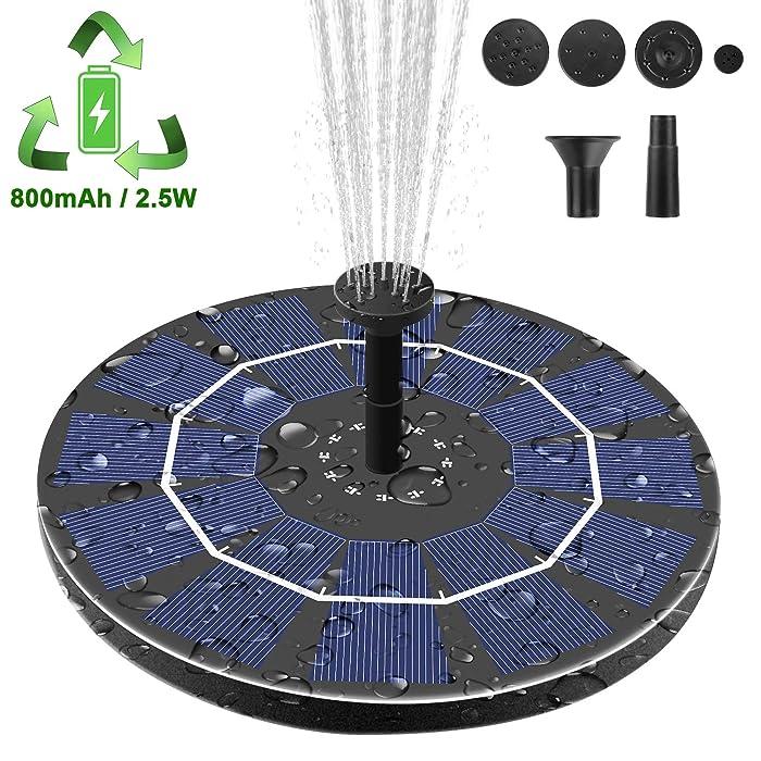 Viajero-Latest-Upgrade-2.5W-Solar-Fountain-Pump-for-Bird-Bath