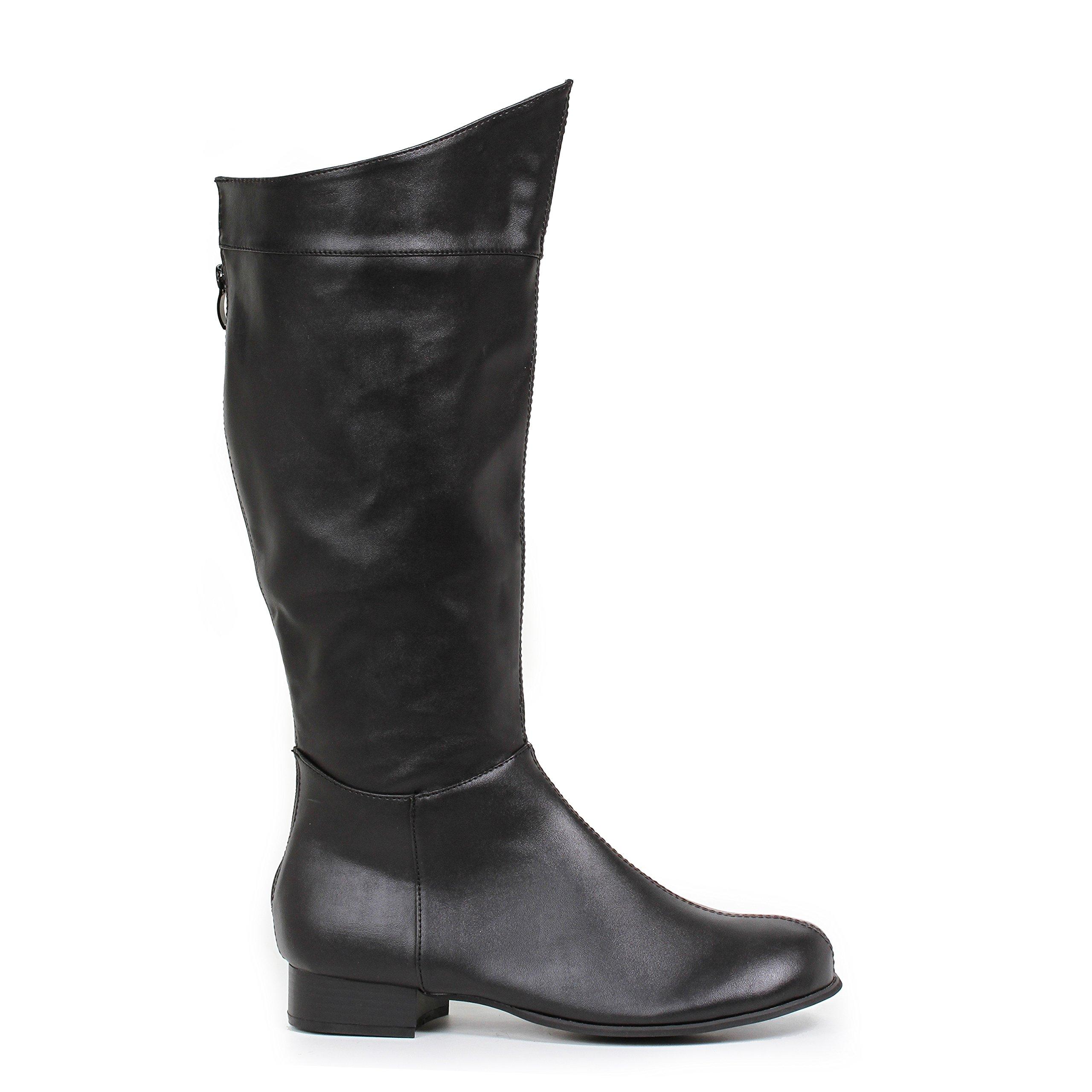 Ellie Shoes Men's 1''Heel Superhero Boot Sizes) M BLKP