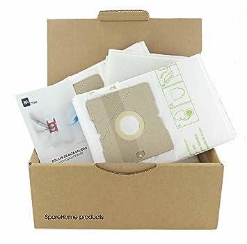 SpareHome 10 Bolsas 2 microfiltros para Aspirador Taurus Modelos: Golf Electronic 2000 (G2000E), Golf Electronic 2200 (G2200E), 1700 (G1700E), Polo ...