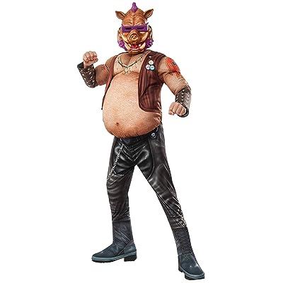 Rubie's Costume Kids Teenage Mutant Ninja Turtles 2 Deluxe Bebop Costume, Medium: Clothing