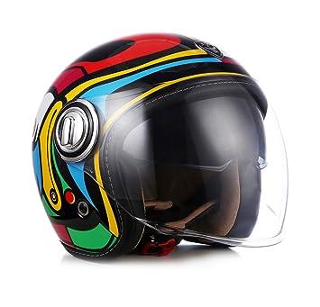 Soxon SP de 888 Mix – Jet de casco vintage Vespa Casco de Moto Chopper Moto