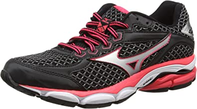 Mizuno Wave Ultima 7 - Zapatillas de running para mujer, color negro - black (black/silver/diva pink), talla 42: Amazon.es: Zapatos y complementos
