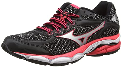 ddfeb0be32e3 Mizuno Wave Ultima 7, Women's Running Shoes, Black/Silver/Diva Pink ...
