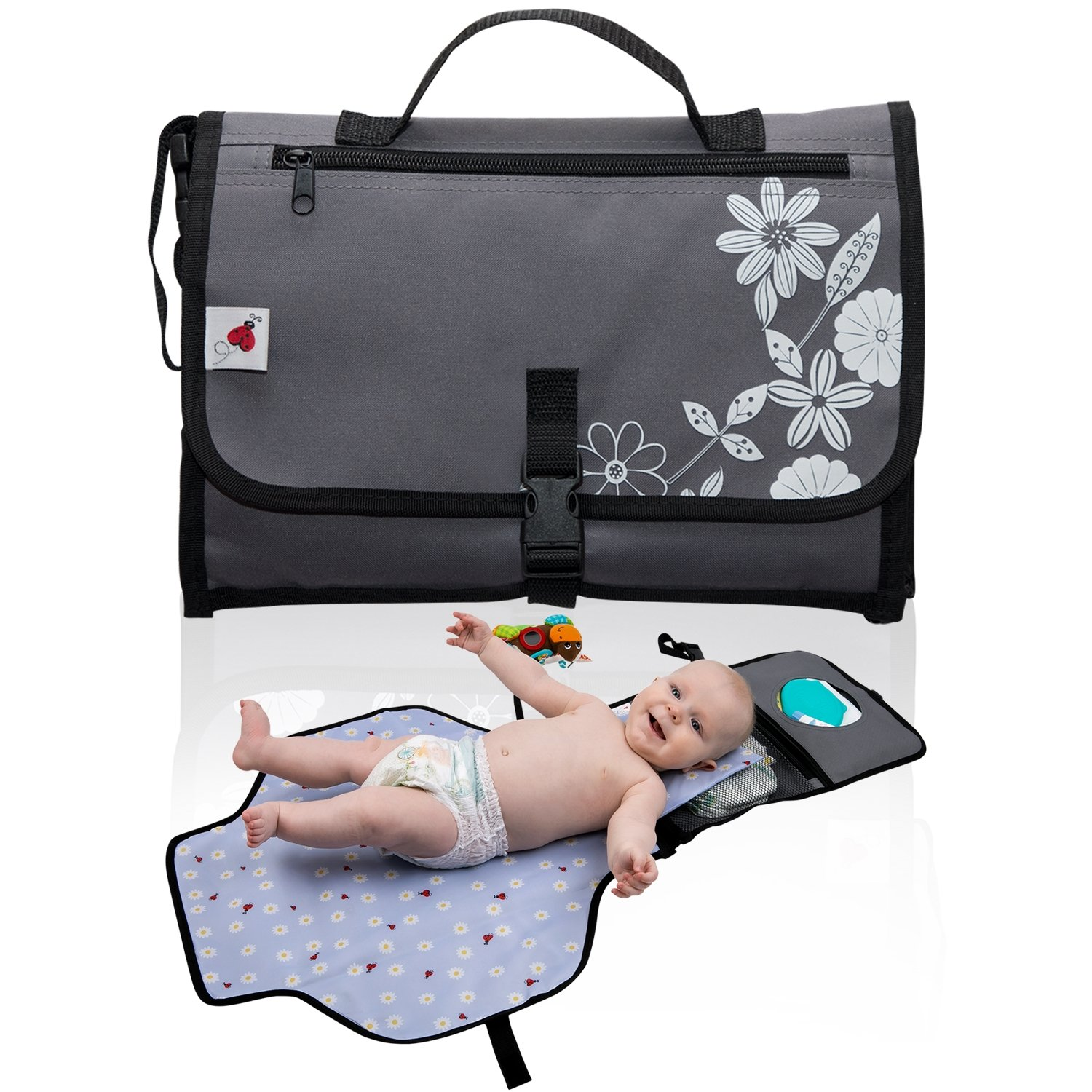 Portable Changing Pad Station Mat Baby Diaper Changing Clutch by Tibuu