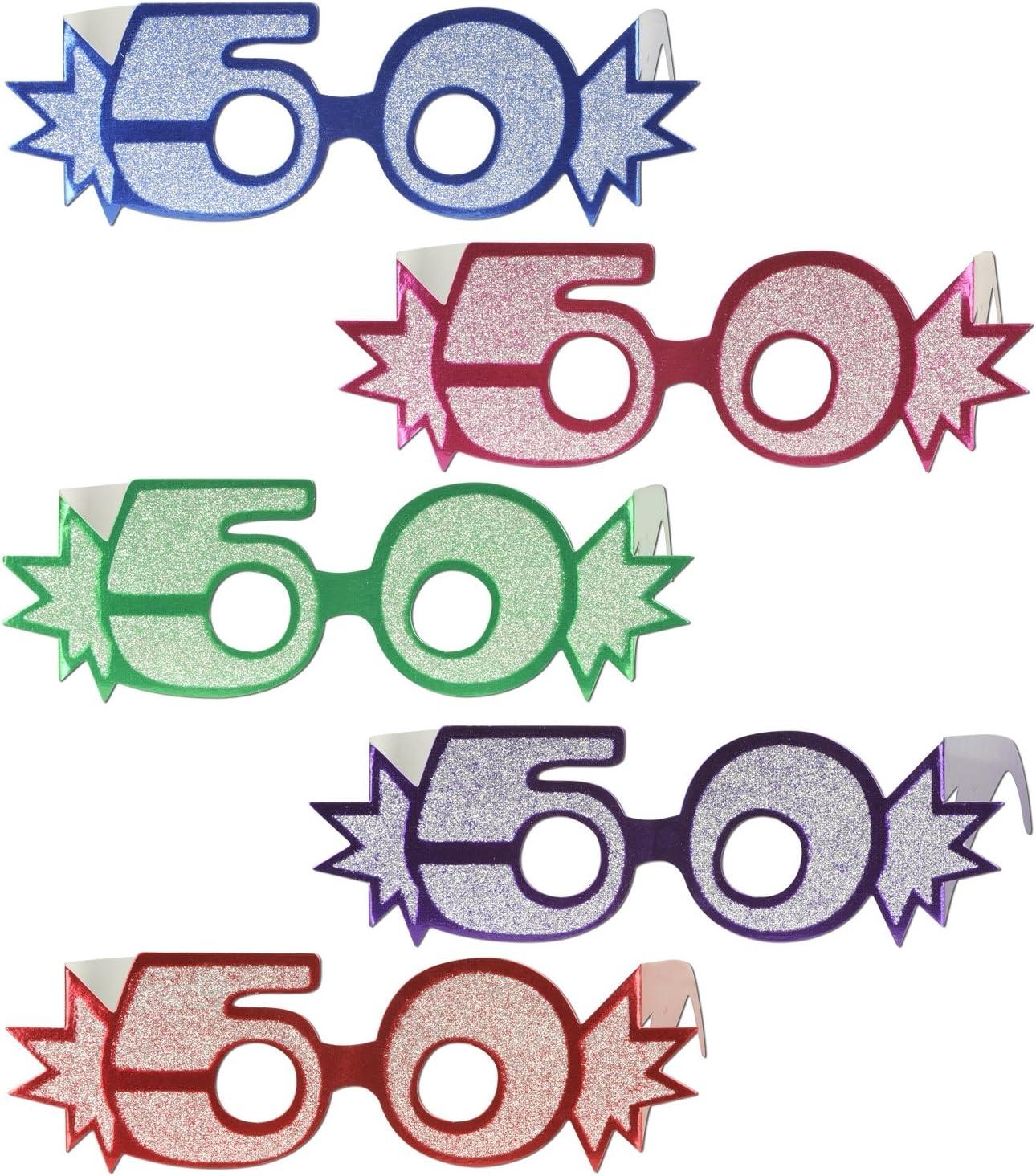 Beistle 30 Glittered Foil Eyeglasses