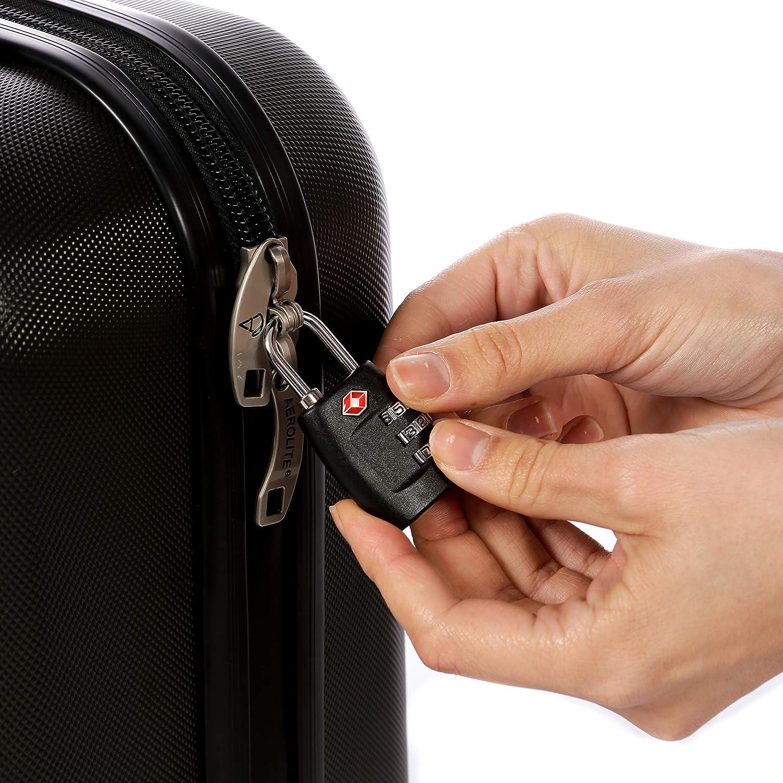 Pack of 3 Locks /Ideal f/ür Reisen und Gep/äck Sicherheit /TSA anerkannt/ Reise-Schl/össer/