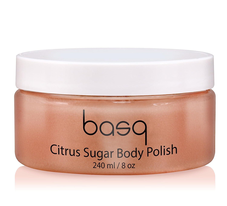 Basq Citrus Sugar Body Polish, 8 ounces