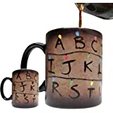 Stranger Things Inspired - Magic Color Changing Heat Sensitive 11oz Grade A Ceramic Christmas Light Mug / Cup - Foam Box Included (Perfect Gift)
