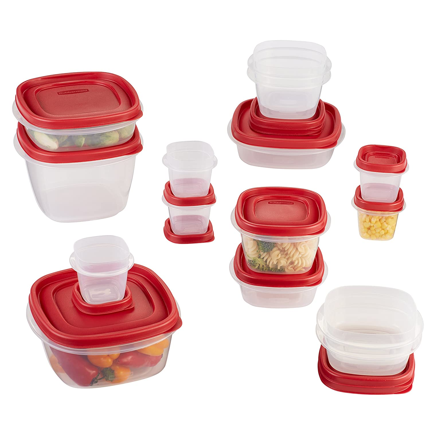Rubbermaid Easy Find Lid Food Storage Container, BPA-Free Plastic, 30-Piece Set (1887941)
