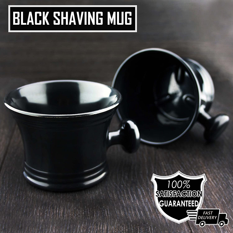 Shaving Soap Bowl /Mug With Handle unbreakable plastic light weight Haryali London