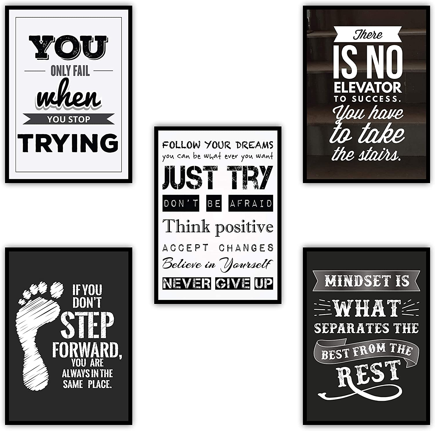 """Large Motivational Posters Set for Classroom Teachers Students Home Office 