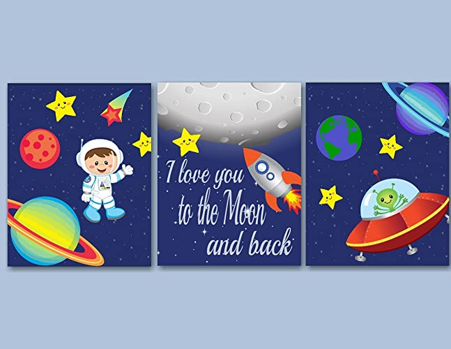 Amazon.com: Space Kids Wall Art,Out of This World Wall Art,Astronaut ...
