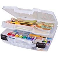 ArtBin ARTBIN 6962AB QUICKVIEW CASE-DEEP Base- Divided Interior W/Lift-Out Tray, 6962AB, Translucent Clear, 15 inch…
