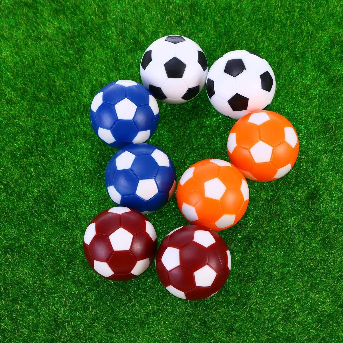 Flyinghedwig Palline Calcio Balilla 8pcs 8pcs Ricambio per biliardino profesisonale Colorati da 36mm Gioco di Calcio per Adulti e Bambini