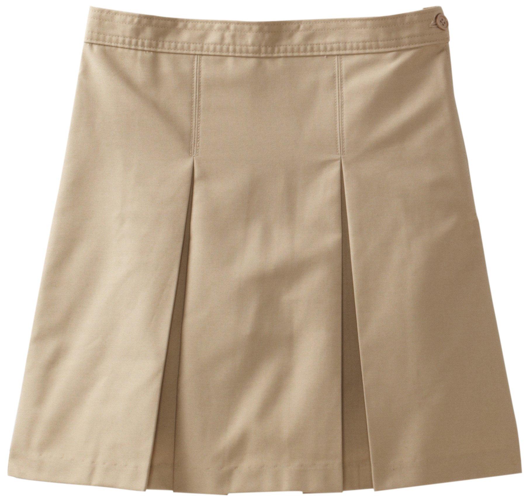 Classroom Big Girls'  Kick Pleat Skirt, Khaki, 14