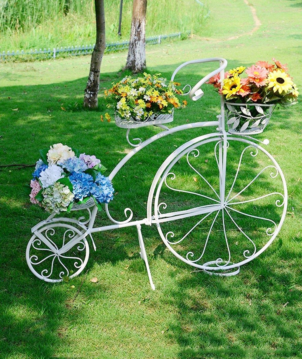 LB huajia ZHANWEI Blumen-Rack Kreatives großes Fahrrad-Blumen-Rahmen-Eisen Mehrgeschossiges Studio-Fenster-Blumen-Geschäft Stützen-im Freienhochzeits-Blumen-Zahnstangen