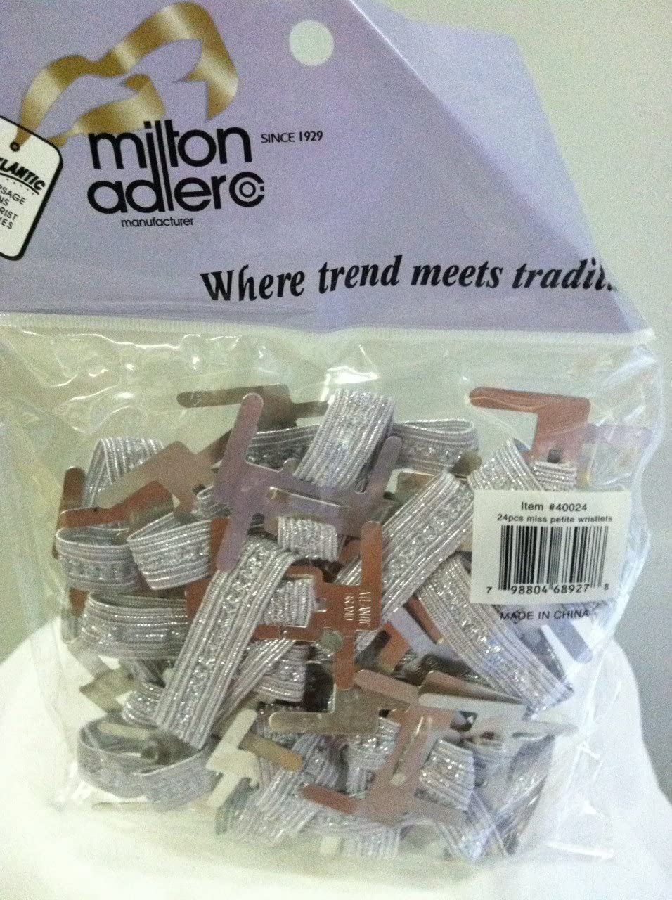or Wedding by Milton Adler Package of 24 Dance Wrist Corsage Elastic Bands Make Wrist Corsages for Prom