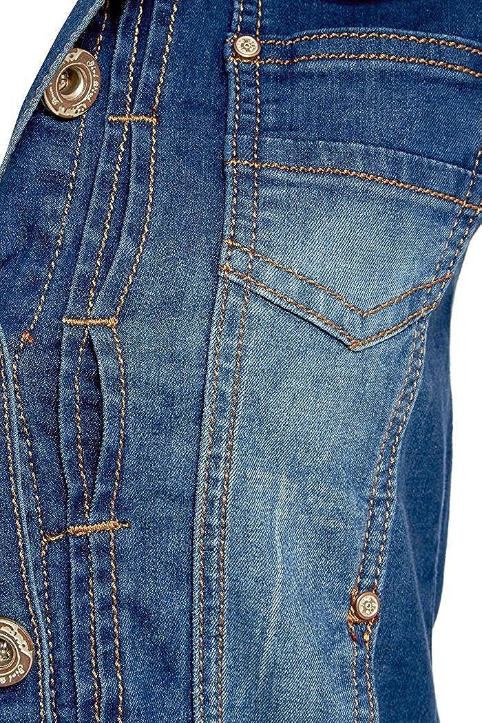2a4f93be59af NEUF pour Femmes Veste en jeans délavé Moyen Bleu Taille S - XXL
