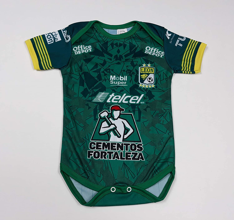 Soccer Club Leon Baby Jersey Baby Jumpsuit Bodysuit Futbol Liga MX