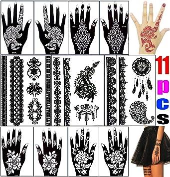 Amazon.com : Henna Tattoo-Airbrush Glitter Tattoo Stencil Kit ...