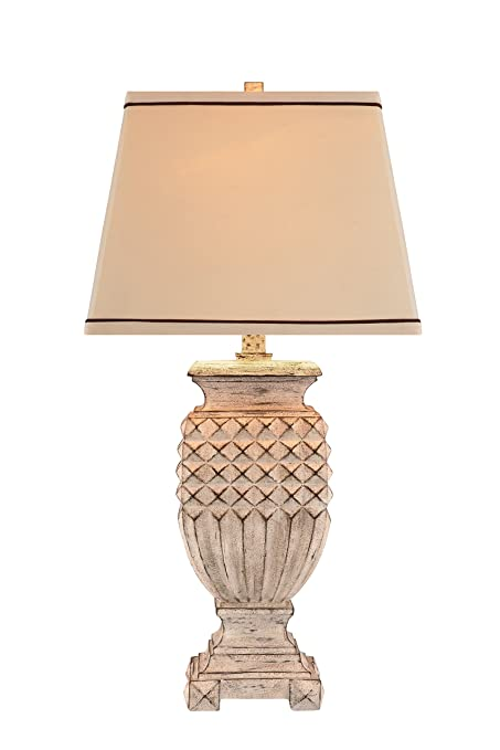 Catalina lighting 19097 000 3 way antique white table lamp with catalina lighting 19097 000 3 way antique white table lamp with linen tapered hardback aloadofball Images