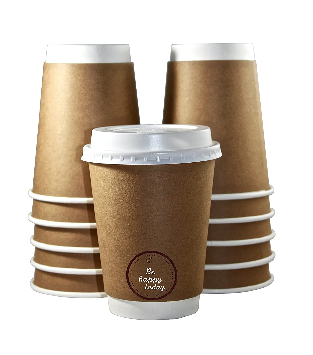 amazon com premium quality 12oz disposable paper coffee cups with